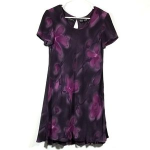 Liz Claiborne Dark Floral Dress - Size 8